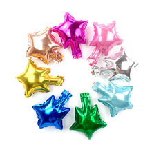 wholesale 100pcs/lot 5inch Mini Foil Star Balloon air Ballon Birthday baby Party Decoration New Year Wedding Supplies kids gifts
