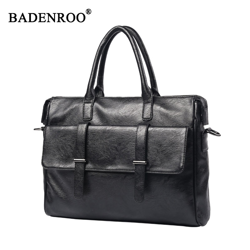 Business men handbag bag pu leather Fashion Men bags Laptop Tote Briefcases Crossbody bags  Handbag Men's  Bag 2017 aosbos fashion portable insulated canvas lunch bag thermal food picnic lunch bags for women kids men cooler lunch box bag tote