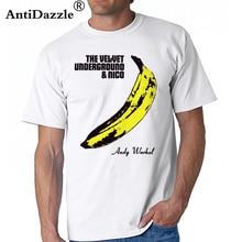 Antidazzle Velvet Underground T Shirts Rock Roll Band Short Sleeve Men T-shirts  Nico b78f07e10dc