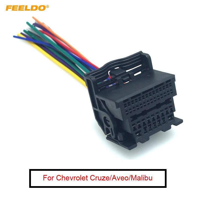 [SCHEMATICS_4CA]  FEELDO 1Pc Car Stereo Audio Wiring Harness Adapter For Chevrolet Cruze  Malibu Aveo ISO Radio CD/DVD Installation Cable|Cables, Adapters & Sockets|  | - AliExpress | Chevrolet Audio Wiring |  | www.aliexpress.com