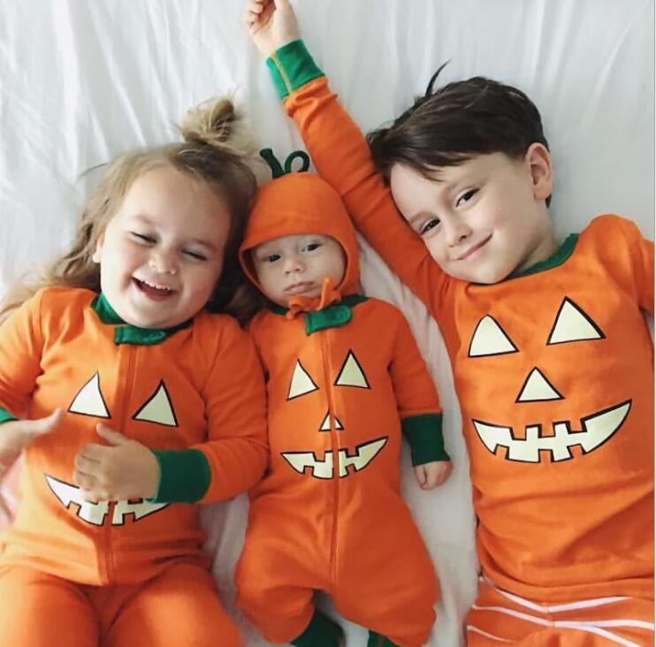 Mom And Baby Boy Matching Halloween Costumes.Halloween Family Matching Clothes Brother Sisters Matching