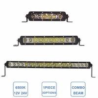 1pc 30W 50W 100W Offroad LED Work Light Bar Combo 12V 24V 7 11 21 Inch