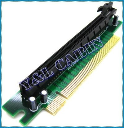 PCI-E PCI Express 16X 90 Angel Riser Card Protector Extender Extension Adapter Converter for 1U 2U, Brand New, Free Shipping