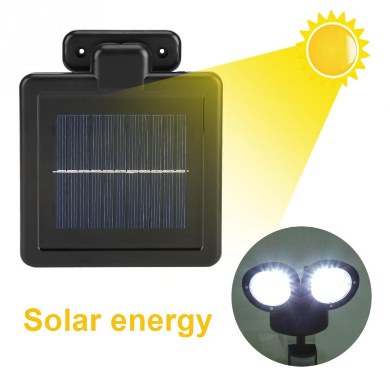 Dual Head 22 LED Solar Light Garden Motion Sensor Solar Light Spotlight Outdoor Security Garden Yard Lamp