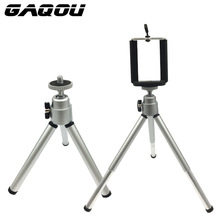 GAQOU Portable Mini Tripod For iphone 6s 7 Samsung With Mobile Phone Holder Stand Remote Shutter For Gopro Camera Phone Bracket