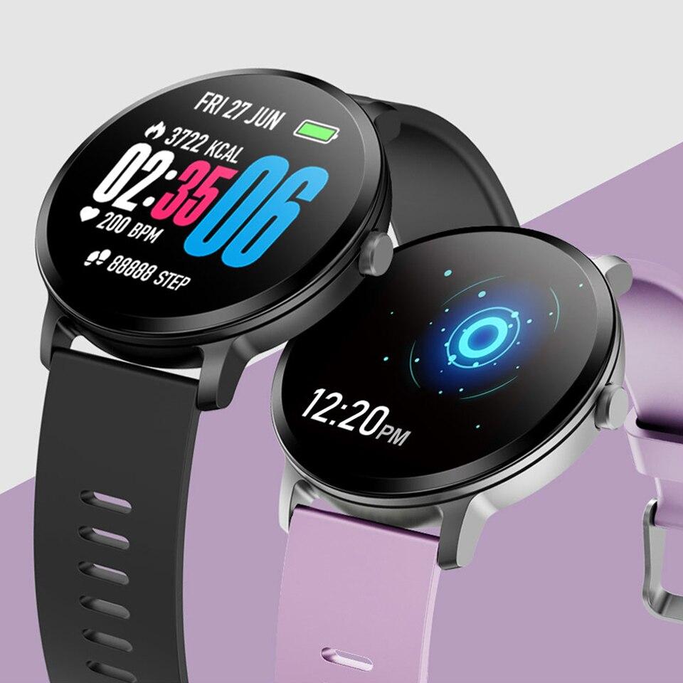 V11 montre intelligente pour hommes et femmes écran en verre trempé IP67 étanche surveillance de la fréquence cardiaque hommes sport Smartwatch pour la course