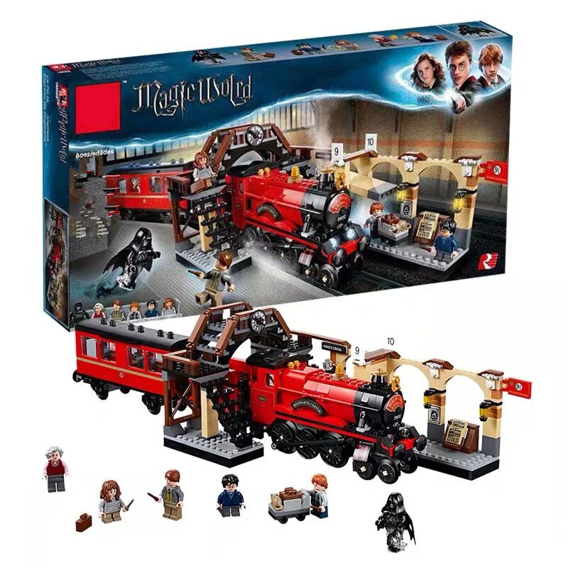New fit Harry Potter Legoinglys Hogwarts Express Set Train Building Blocks Bricks Kids boys Toys for
