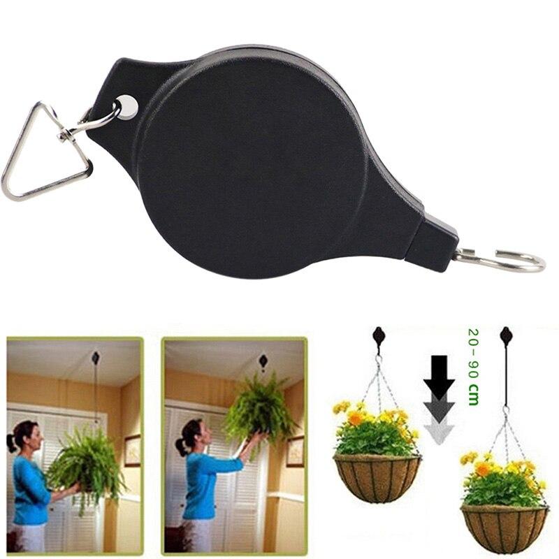 Haute qualité rétractable poulie suspendus panier tirer vers le bas cintre fleur plante paniers Pots pour outils de jardin support moins de 15kg