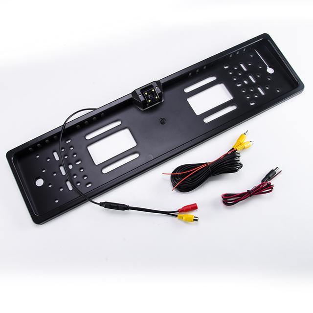 Hippcron Car Rear View Camera in EU European License Plate Frame Night Vision Waterproof Car Reverse Backup Parking