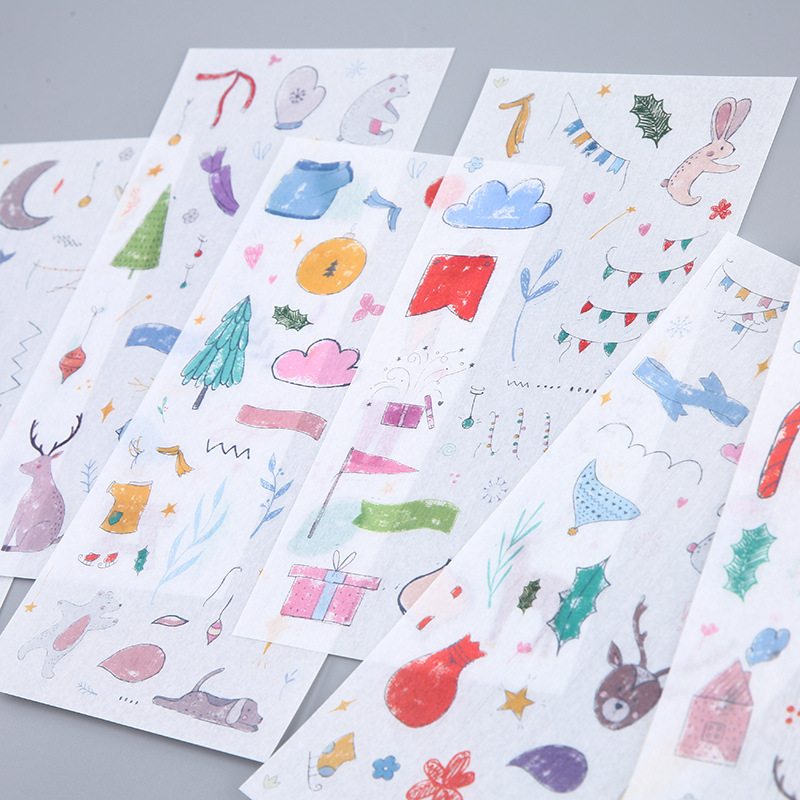 6 Sheets/pack Animals Playground Party Decorative Stationery Stickers Scrapbooking Diy Diary Album Stick Lable