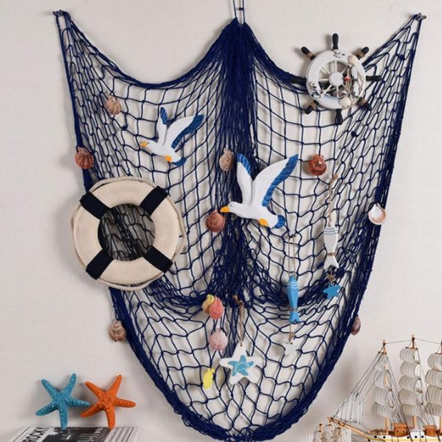 Mediterranean Marine Style Hanging Fishing Net Pendant Mesh Home