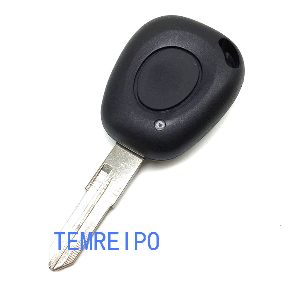 10pcs/lot car key replacement renault 1 button remote key cover fob selling