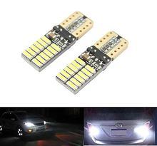 Kit 4 lampada pingo t10 24 led chip canbus cancelador (forte 8w) vermelho, amarelo, azul e branco