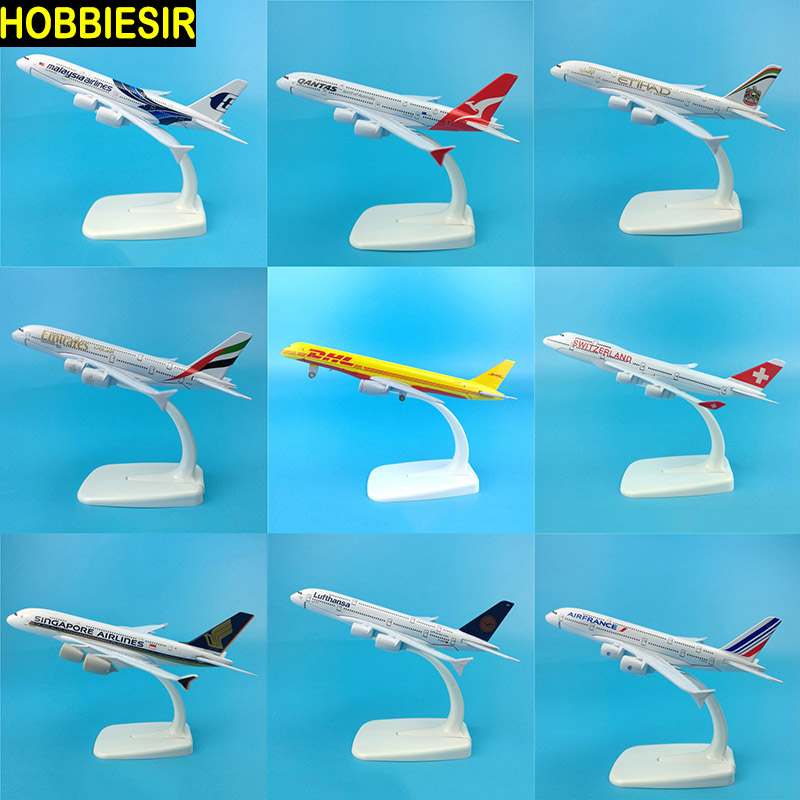 16CM 1:400 Scale Airplane Airbus A340 A380 Boeing B777 B747 Plane Model W Base Alloy Aircraft Plane Collection Gift Toy For Kids