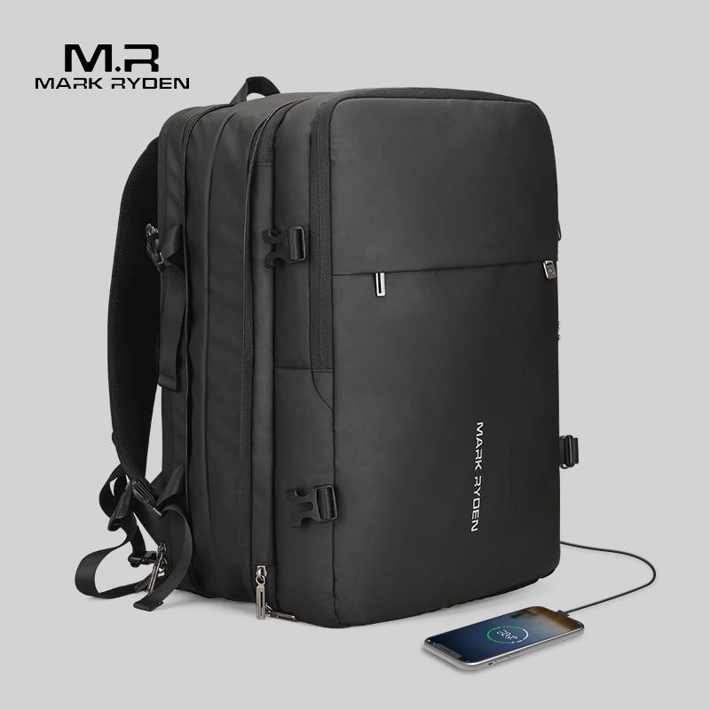 Mark Ryden Homme Sac À Dos Fit 17 pouces Ordinateur Portable USB Recharge Multi-couche Espace Voyage sac masculin Anti-voleur Mochila - 3