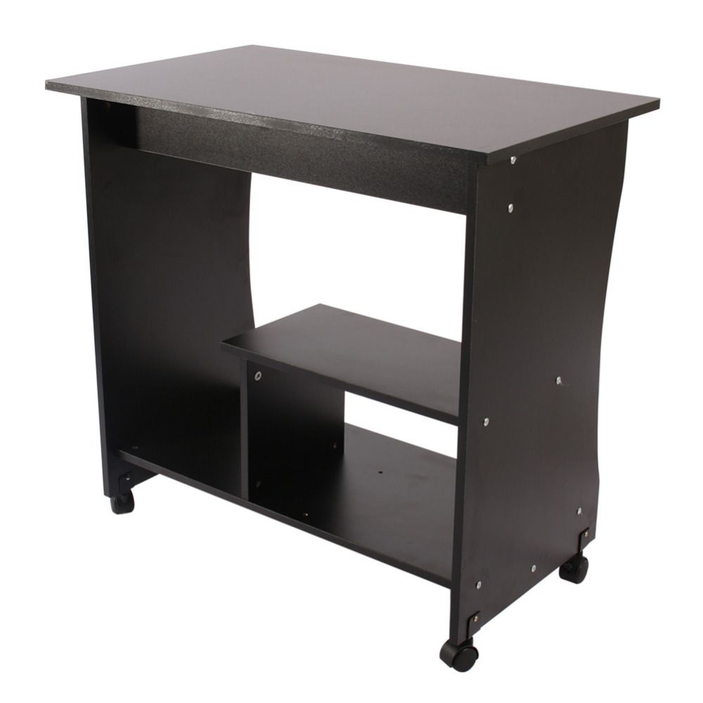 Desktop Notebook Computer Desk Bed Side Laptop Pulley Table Household Corner Table For Home Office Workstation