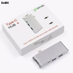 Image 5 - 6 inç 1 USB C HUB adaptörü 4K ekran ile USB 3.0 tip C güç dağıtım SD/TF MacBook Pro için kart okuyucu tipi C Hub Hdmi