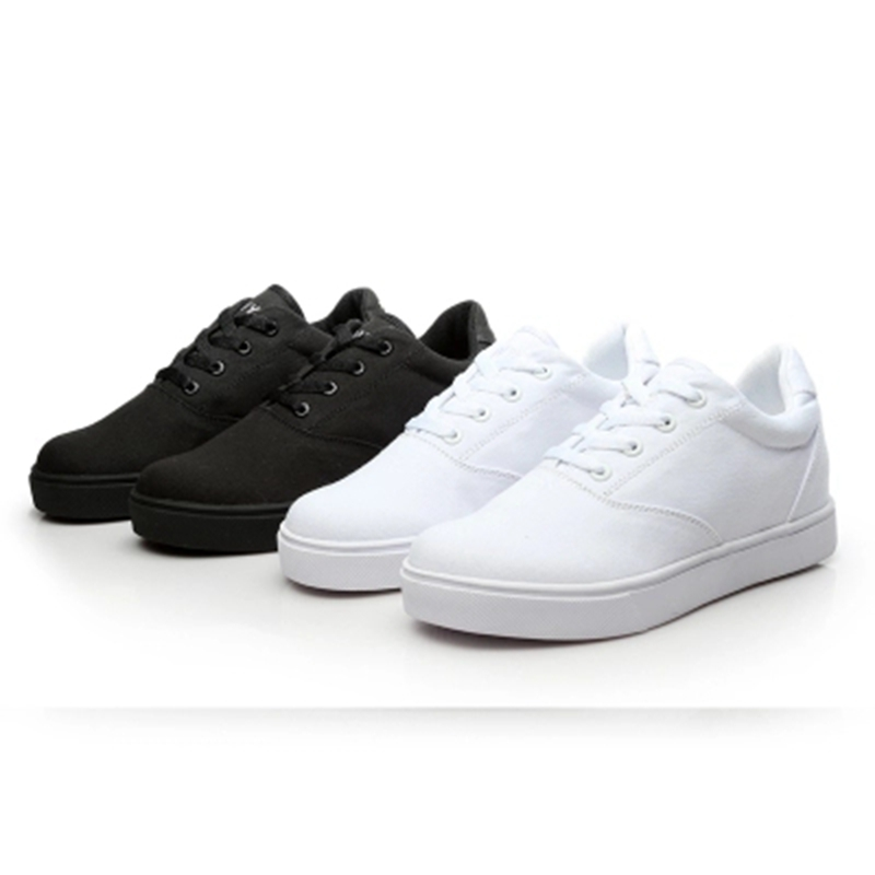 Kids Sneakers With Wheels High Quality Canvas Boys Roller Shoes One Wheel Youth Trend Breathable Casual Sport Sneaker Trainer