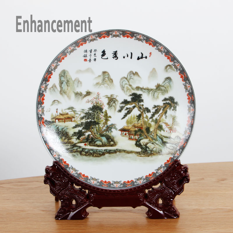 Neue Ankunft Antike Jingdezhen Keramik Vase Platet Set Klassische - Wohnkultur - Foto 6