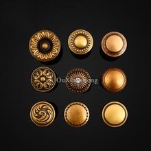 Top Quality 10PCS Furniture Handles European Rural Pure Brass Drawer Wardrobe Cupboard Kitchen Cabinet Door Pulls Knobs