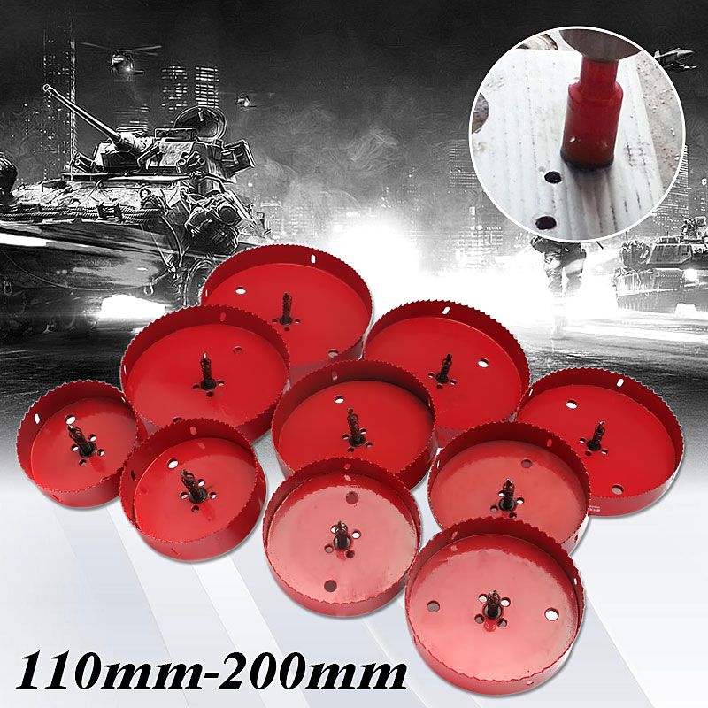 1Pcs 110-200mm M42 Bi Metal M42 HSS Hole Saw Cutter Drill Bit Set Metal Opener For Aluminum Iron Pipe