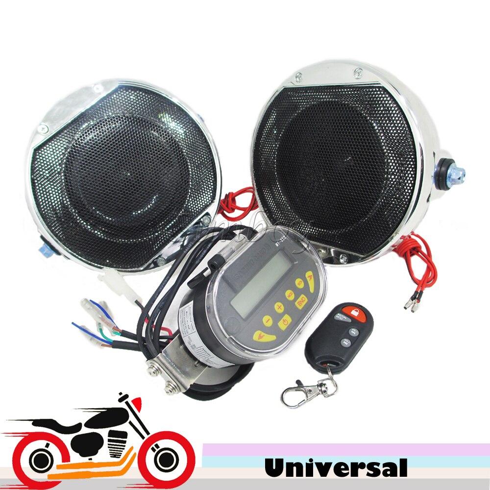 12v 2x20w Remote Control Motorcycle Alarm Speakers Loudspeakers mp3 Player FM Radio Motorbike Stereo Audio Amplifier