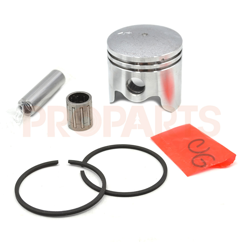 Chinese 40mm Piston Assy Needle Bearing Kit For 43CC 1E40F-5 CG430 BC430 TL43 Grass Brush Cutter Strimmer Spare Parts 10 set carburetor repair kits with primer bulb needle for brush cutter cg260 cg330 cg430 cg520 gx35 40 5 43cc 52cc