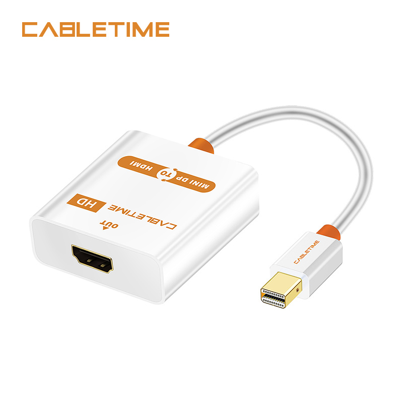Cabletime Thunderbolt Mini DP to HDMI Active Cable M/F Mini DisplayPort To HDMI Adapter for MacBook Pro Air iMac projector N020 цена и фото