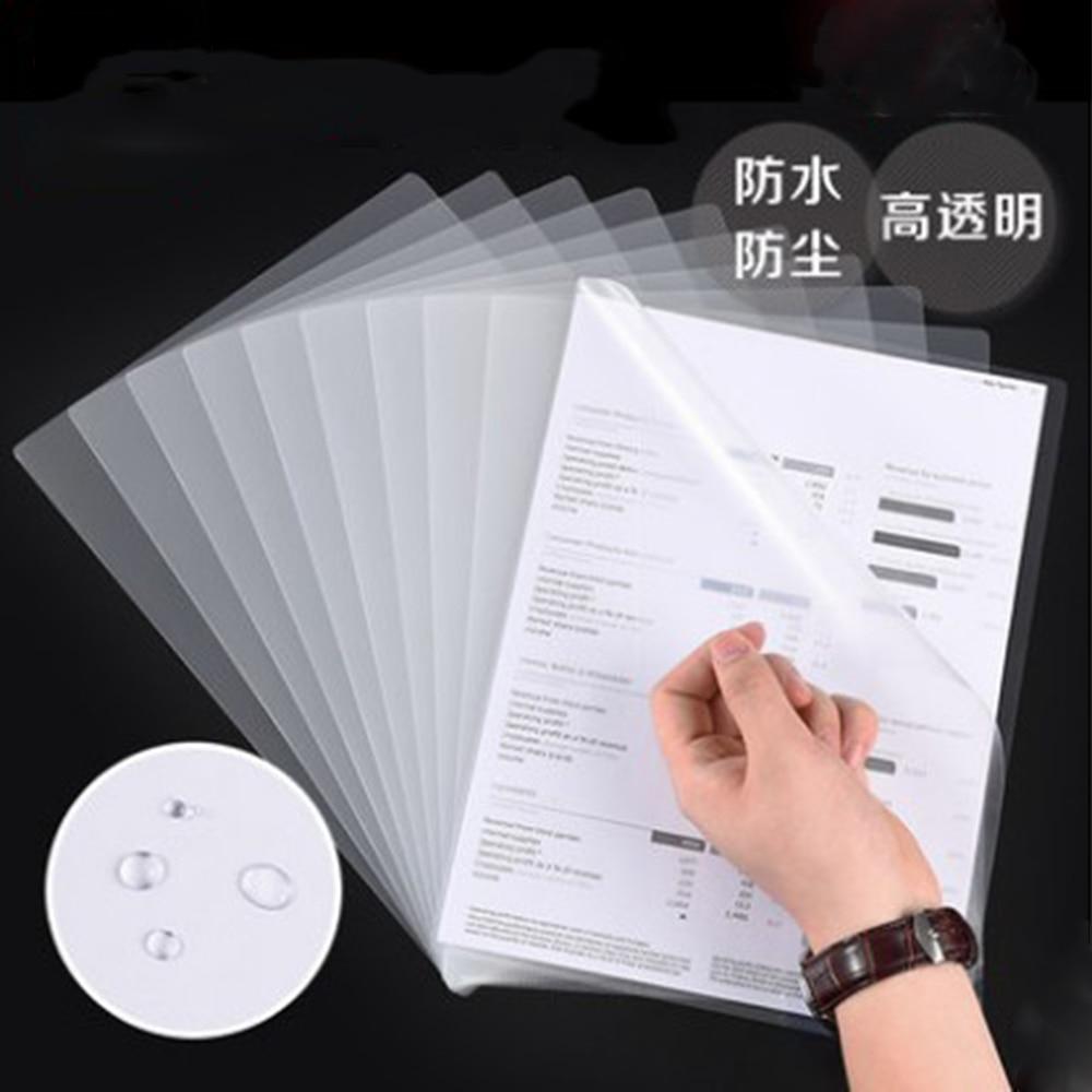 5 47 10 Pièces Ensemble Transparent Simple Page Dossier A4 Insérer Feuille Dossier Protection Des Fichiers Couverture Présentation Dossier L Type