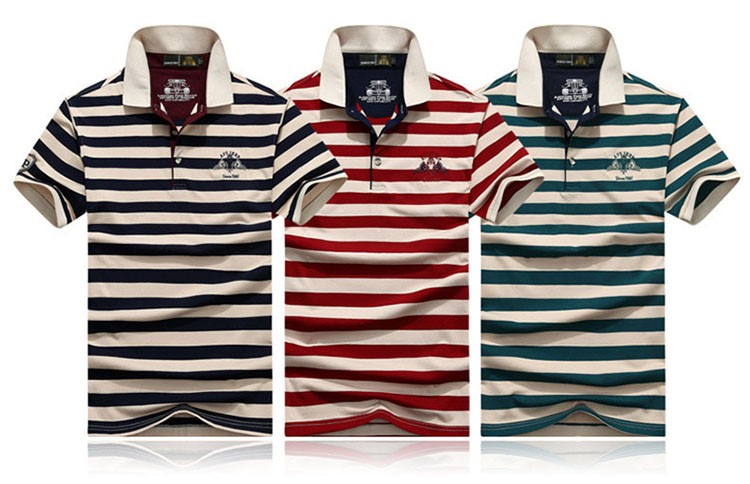 Polo Shirts Men Fashion Brand Striped Cotton Polos Slim Fit Summer Short Sleeves Male Casual Shirts Top Quality Plus Size 3XL (2)