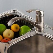 Высокое качество 100% медь горячей и холодной кухня раковина кран Матовый Никель овощи краны 1 шт./лот