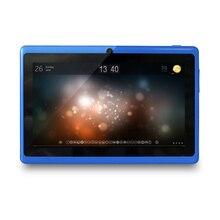 Yuntab Nueva Barato de 7 pulgadas Q88 Allwinner A33 Quad Core Tablet Pantalla Capacitiva de la PC Androide 4.4 de la tableta 512 M 8 GB de Doble cámara de tablet