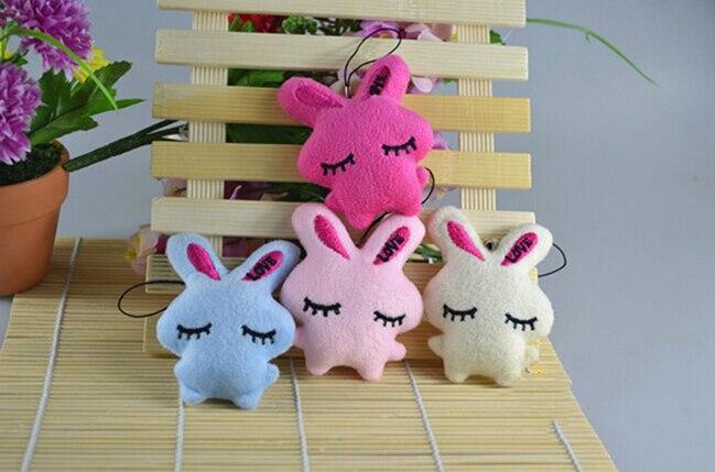1 StÜcke Soft Niedlichen Plüsch Cartoon Kaninchen Umarmung Gefüllte Anhänger Für Handy Riemen Taschen Teile Zubehör Duftendes (In) Aroma