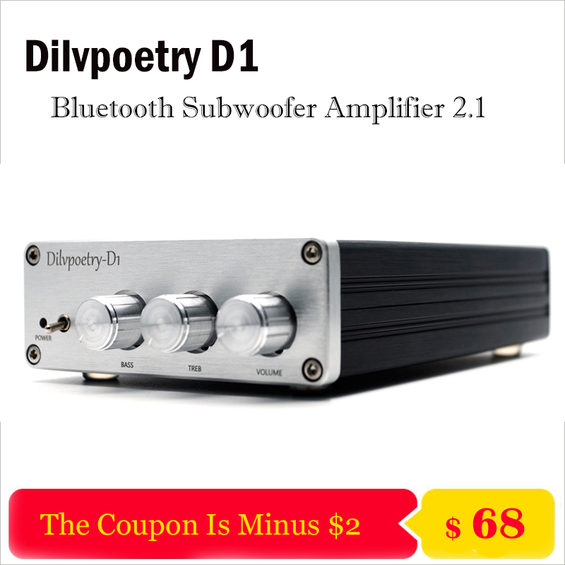 Dilvpoetry D1 Home Bluetooth Amplifier Audio Hifi Subwoofer Amplifier 2.1 Professional Power Amplifier Preamp Audio Amplificador цена 2017