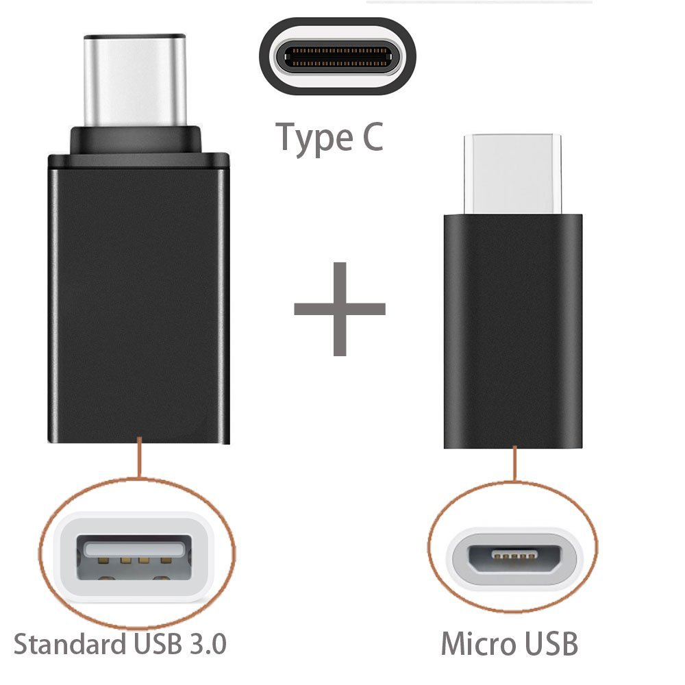 2in1 type c to usb otg adaptor type c to micro usb adapter for xiaomi huawei lenovo zuk z2 pro. Black Bedroom Furniture Sets. Home Design Ideas