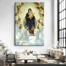 Aestheticism Our Lady Queen Of Angels Poster Vintage Canvas Painting Print Living Room Home Decor Modern Wall Art Oil