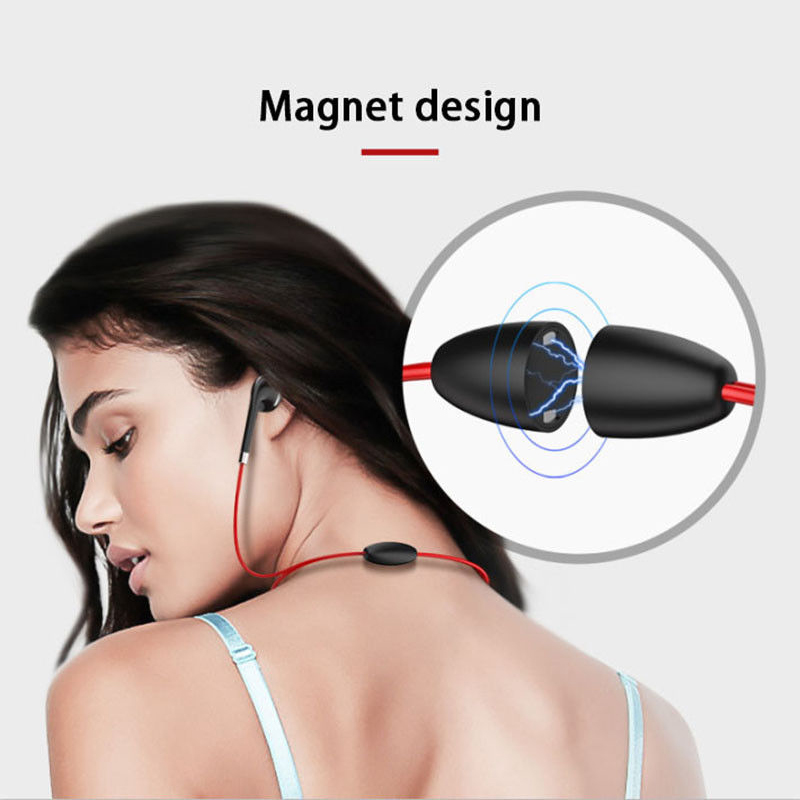 YISHANGOU BT313 Magnetic Bluetooth Headset Earphone Stereo Earbuds Sport Running Headphone Earpiece With Mic for Smart Phone