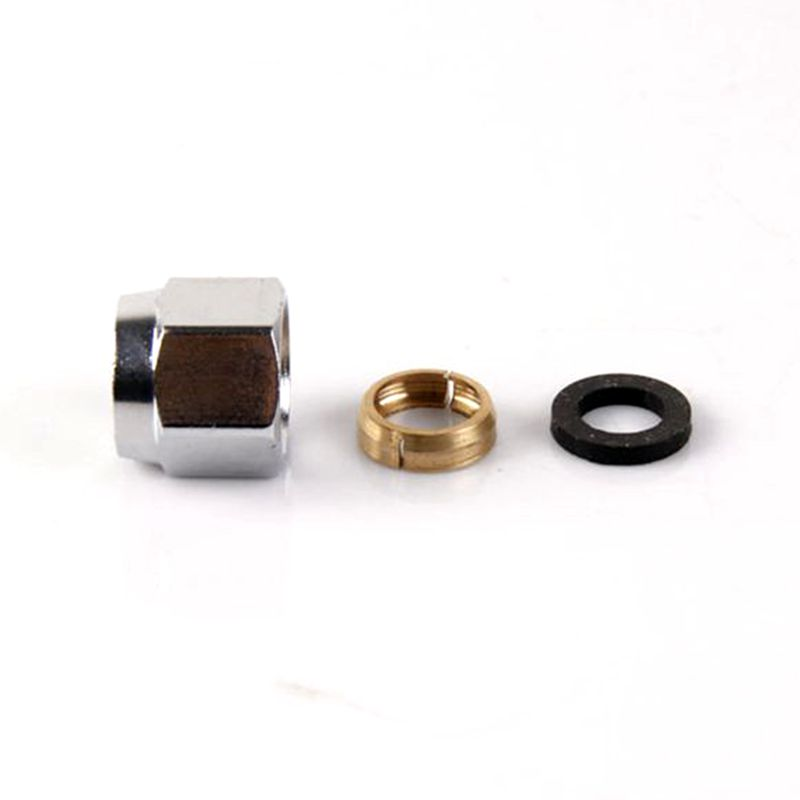 """5 PCS 1/2"""" Gas Cap Stainless Steel Quick Tube Cap Stainless Steel Bellows Quick Access Nuts"""