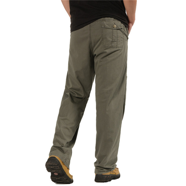 Men's Cargo Pants Casual Loose Military Tactical Pants Multi-Pocket Overall Sporting Baggy Male Long Trousers Plus Size 5XL 6XL 2