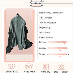 Image 5 - 2020 Winter Scarf for Women Fashion Plaid Fold Cashmere Scarves Neck Warm Thick Shawl Wrap Lady Pashmina Bandana Female Foulard