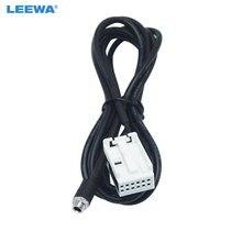 Leewa rádio automotivo, mp3, rcd510 + rcd310 + AUX-IN, cabo adaptador para vw passat b6 golf polo 12-cabo de fio aux da porta de pino # ca5805