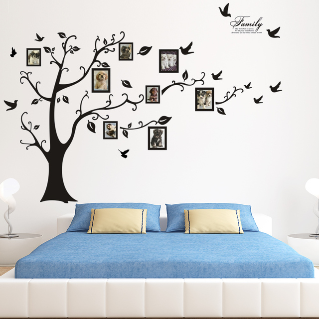 Large Family 3D DIY Tree Wall Sticker Bedroom Sofa Backdrop TV Background  Removable Wall Stickers For
