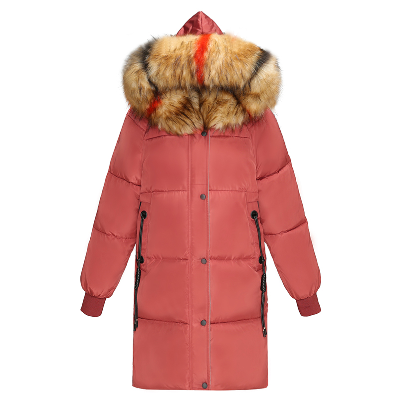 KUYOMENS Style New Warm Autumn Beige Jackets Women 2018 Fashion Women Coat Thick Colorful Fur Collar Hooded Zipper Pocket   Parkas