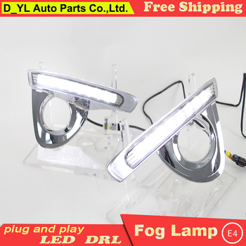 Car styling For Toyota crown 2012-2014 LED DRL For crown led fog lamps daytime running lights High brightness guide LED DRL