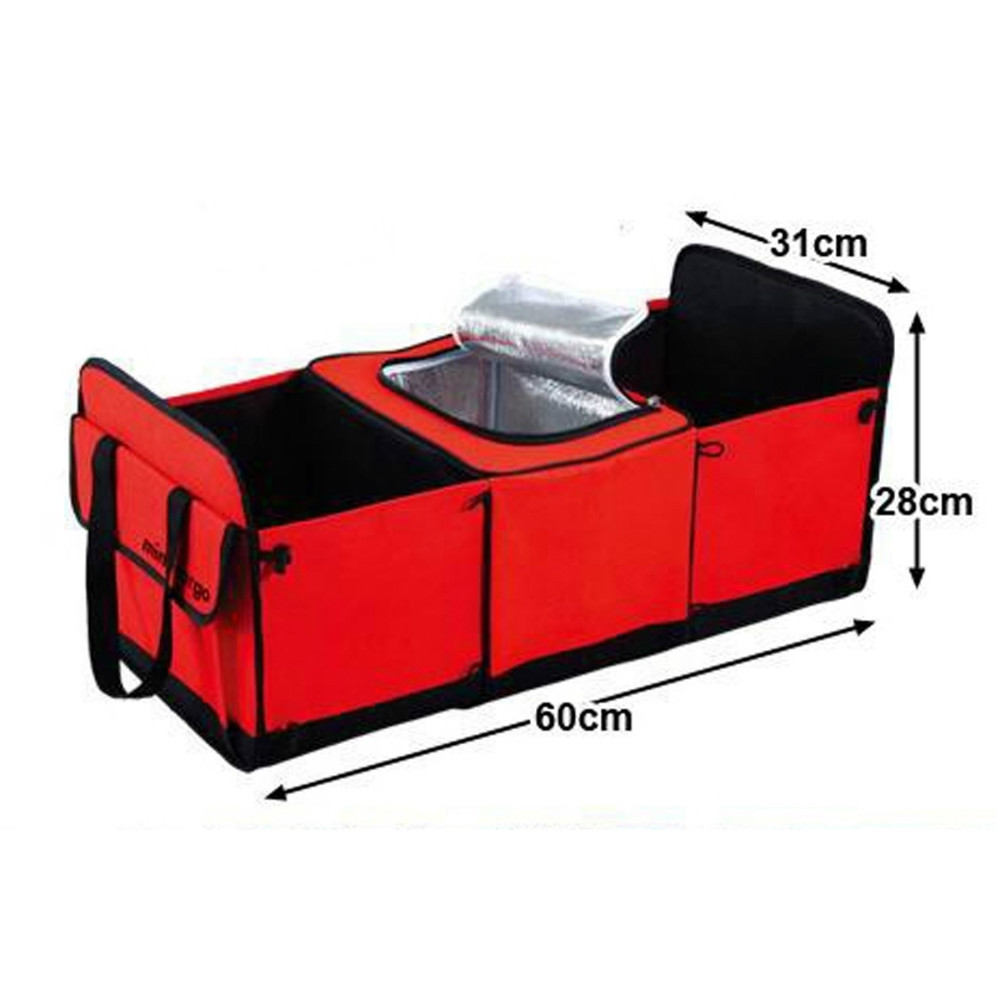 CHIZIYO Car Trunk Opbevaringspose Oxford Cloth Folding Truck Opbevaringskasse Car Trunk Tidy Bag Organizer Opbevaringskasse Med Cooler Bag