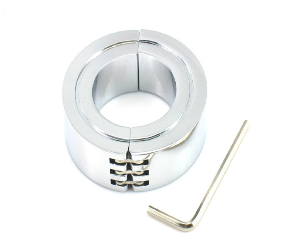 3 Size Choose Stainless Steel Scrotum Metal Cock Ring CBT Ball Stretchers Weight Chrome Finish BDSM Bondage Sex Toys For Male