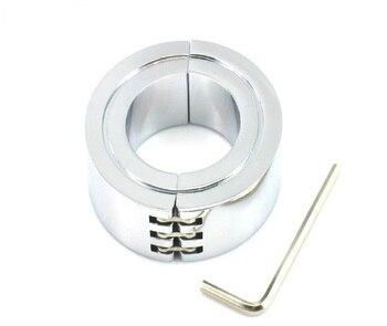 3 tamaños elegir Acero inoxidable escroto anillo de metal CBT bola estiradores peso cromo acabado BDSM bondage juguetes sexuales para hombre
