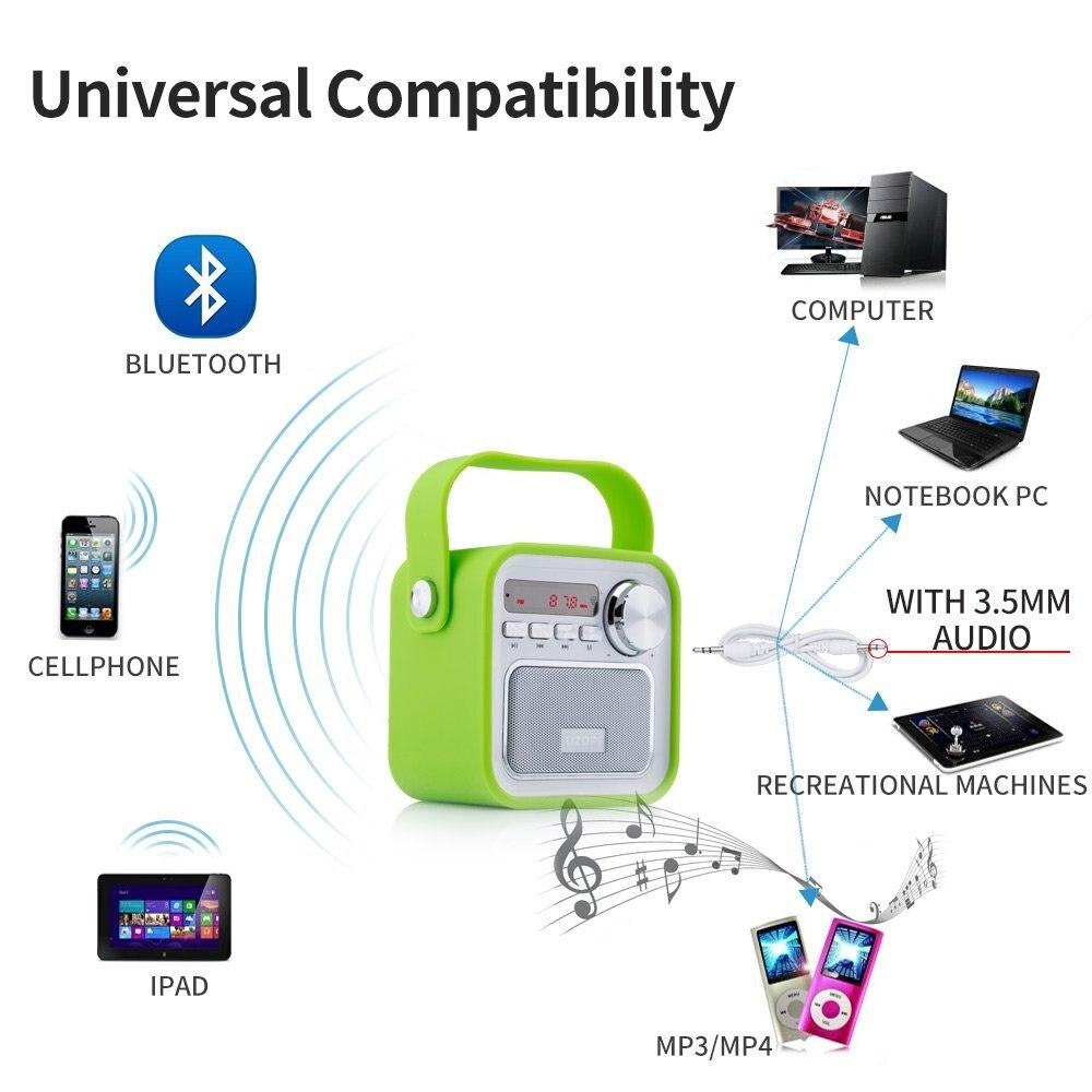 Unterhaltungselektronik Großhandel Tragbare Es-692 Wiederaufladbare Bluetooth Radio Fm 60 Hz-18 Khz Musik Player Lautsprecher Mit Lcd-bildschirm Unterstützung Tf /sd Karte Tragbares Audio & Video