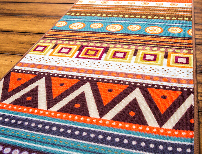 Aliexpress Buy Novelty Door MAT Rug Porch Patio Floor Decor Living Room Carpet Mat Indian Geometric Aztec Pattern 50x120cm From Reliable