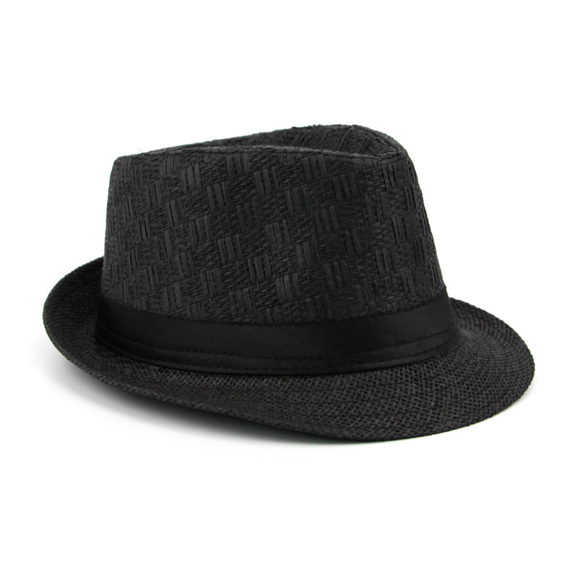 796961557 US $5.14 17% OFF|Brand Sun Hats For Men Casual Trilby Straw Panama Cap Men  Beach Straw Hat Summer Jazz Bucket Hat For Male Visor Gangster Cap -in Sun  ...